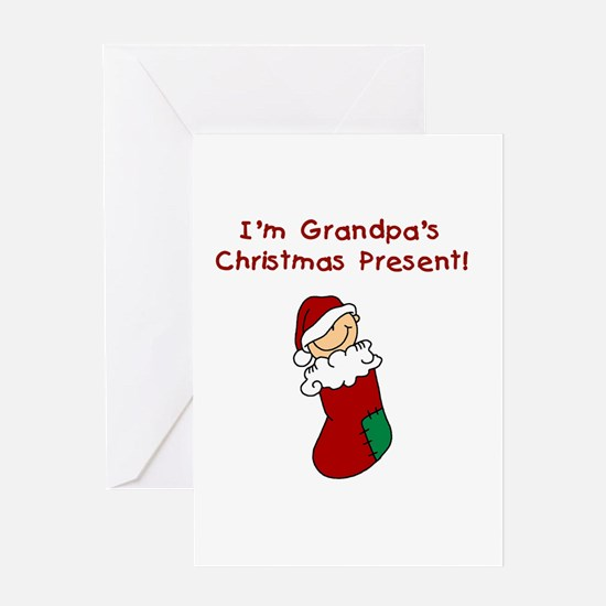 Grandpa's Christmas Present Greeting Card
