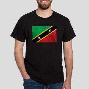 St. Kitts and Nevis Flag Dark T-Shirt