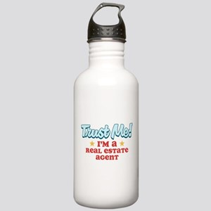 Trust Me Real Estate agent Stainless Water Bottle