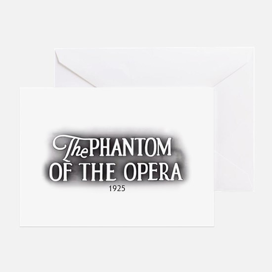 The Phantom of the Opera 1925 Greeting Cards (6) G