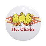 Hot Chicks Ornament (Round)