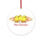 Hot Chicks Ornament (Round)