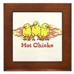 Hot Chicks Framed Tile