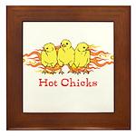 Hot Chicks Framed Tile