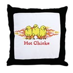 Hot Chicks Throw Pillow