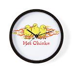 Hot Chicks Wall Clock