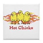 Hot Chicks Tile Coaster