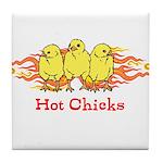 Hot Chicks Tile Coaster