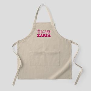 I Love Zaria Light Apron