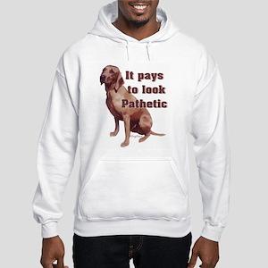 pathetic redbone coonhound Hooded Sweatshirt