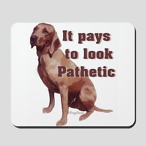 pathetic redbone coonhound Mousepad