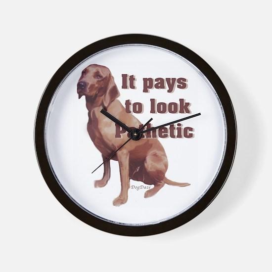 pathetic redbone coonhound Wall Clock