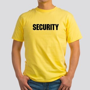 Security Personnel Yellow T-Shirt