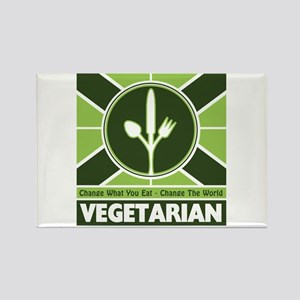 Vegetarian Flag Rectangle Magnet