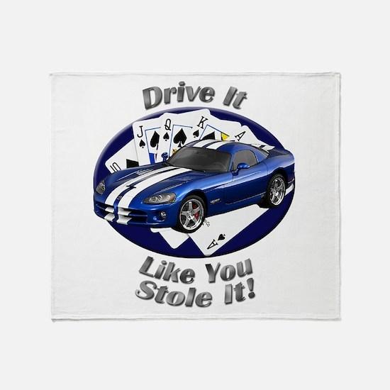 Dodge Viper Throw Blanket