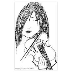 small violin art Poster