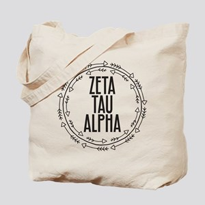 Zeta Tau Alpha Sorority Arrow Tote Bag