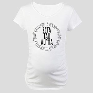 Zeta Tau Alpha Sorority Arrow Maternity T-Shirt