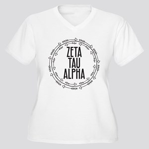 Zeta Tau Alpha So Women's Plus Size V-Neck T-Shirt