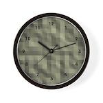 Plaid Fabric Cool Clocks Wall Clock