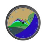 Abstract Mountain designer Cool Clocks Wall Clock
