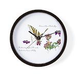 Love is like a Butterfly Wall Clock