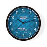 Stones graffiti brick mural Cool Clocks Wall Clock