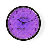 Stones (cosmic purple haze) Cool Clocks Wall Clock