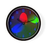 Red Green Blue RGB Wall Clock