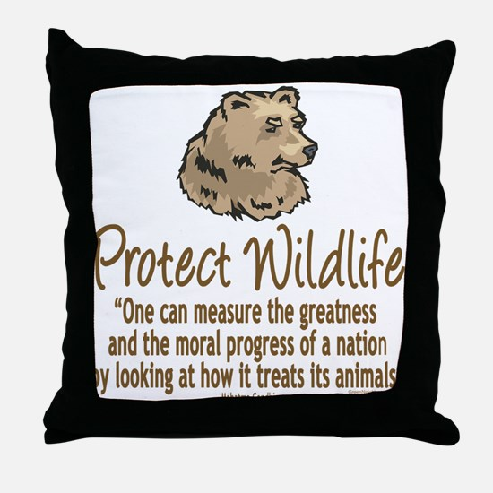 Protect Bears Throw Pillow