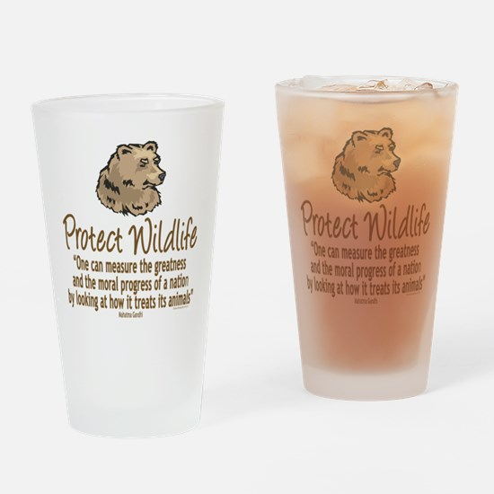 Protect Bears Drinking Glass