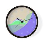 Cool Clocks Pastel Mountains Abstract Wall Clock