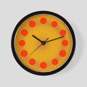Poker Chips Pepperoni Pizza Clock