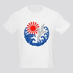Nami ni hiashi ni kamome Kids Light T-Shirt