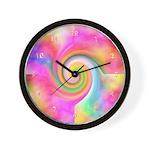 Pastel Rainbow Swirl Wall Clock
