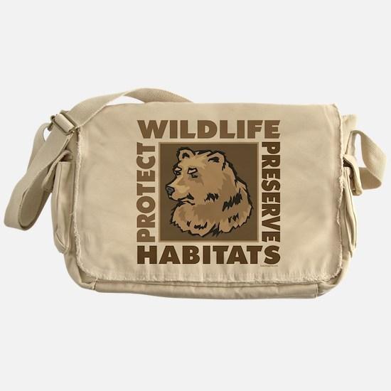 Protect Bears Wildlife Messenger Bag