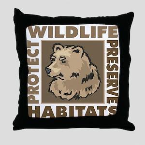 Protect Bears Wildlife Throw Pillow