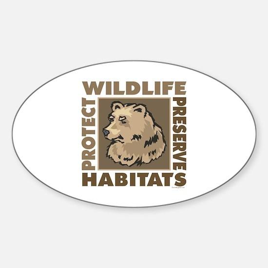 Protect Bears Wildlife Sticker (Oval)
