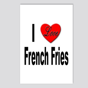 I Love French Fries Postcards (Package of 8)