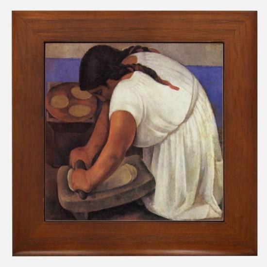 Diego Rivera - Molendera Art Tile Framed Tile