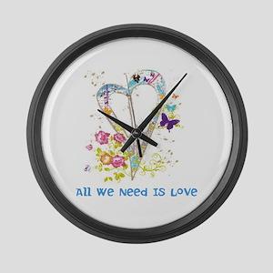 Peace Large Wall Clock