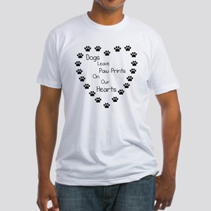 Dogs Leave Paw Prints Fitted T-Shirt