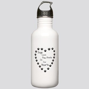 Dogs Leave Paw Prints Stainless Water Bottle 1.0L