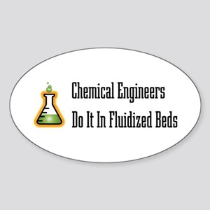 Chemical Engineers Oval Sticker