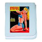 Eyeful Blonde Beauty Pin Up in Blue baby blanket