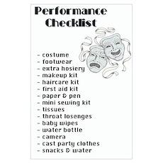 Performance Checklist Poster