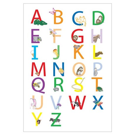 Cute Abc Chart Wall Art