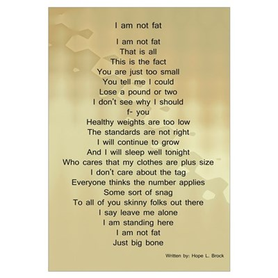 Fat poem Framed Print