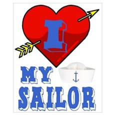 I LOVE MY SAILOR Poster
