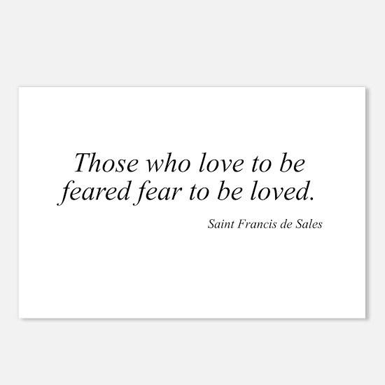 Saint Francis de Sales quote  Postcards (Package o
